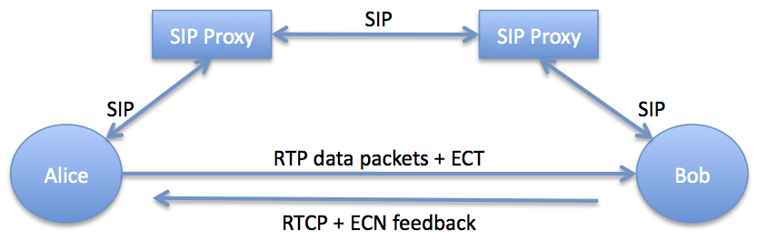 Use of ECN with RTP and SIP