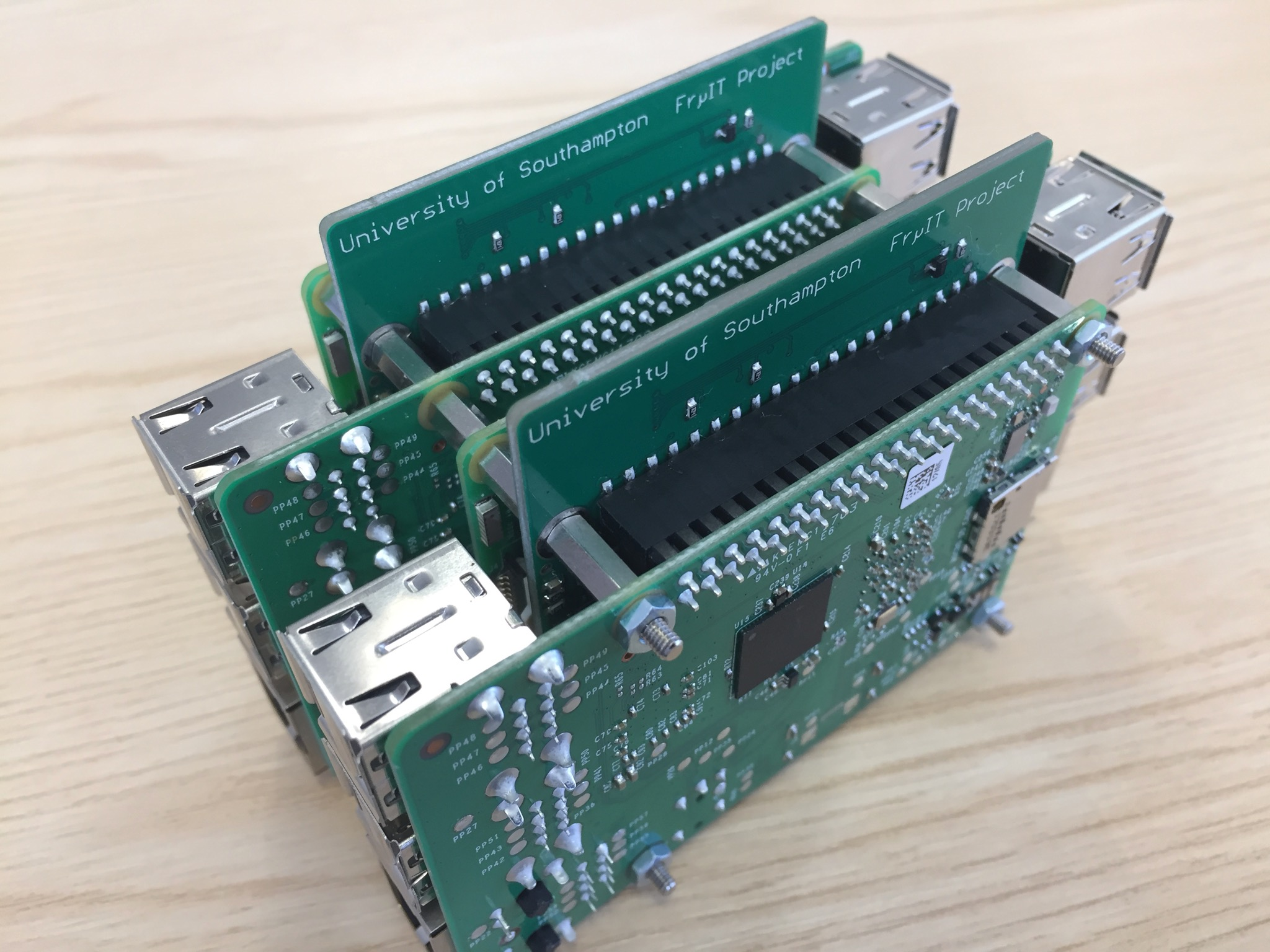 PiStack - Raspberry Pi cluster power supply board prototype